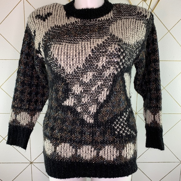 Vintage St. Michael Wool Abstract Pullover Sweater
